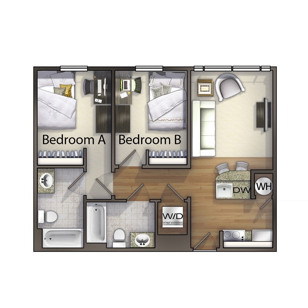 2 Bedroom - The Haywood