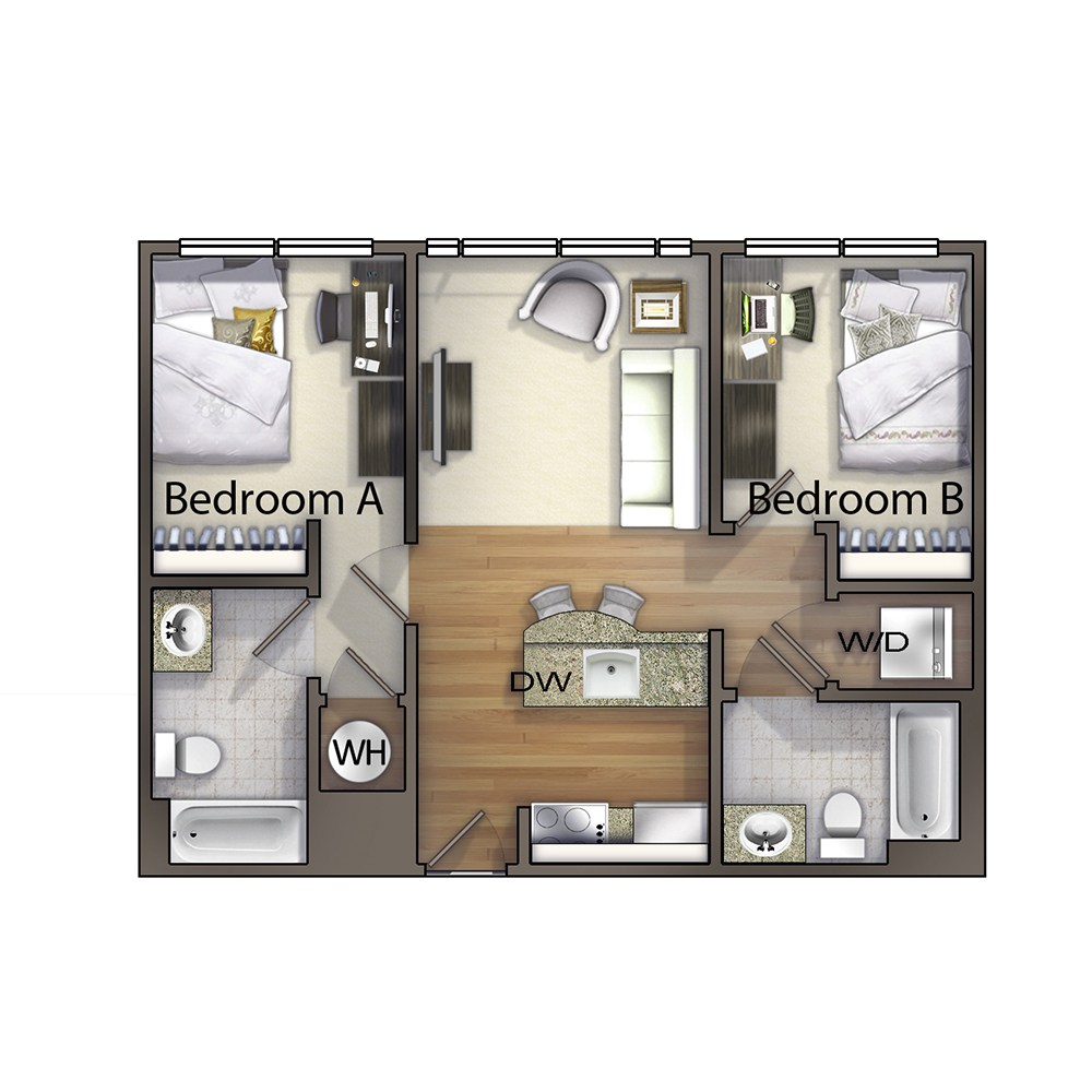 2 Bedroom - The Burke