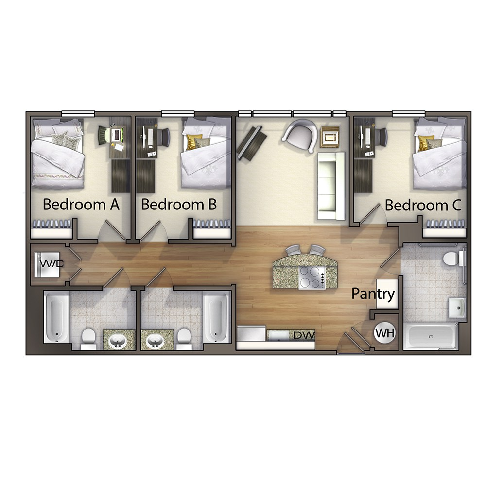 3 Bedroom - The Ashe