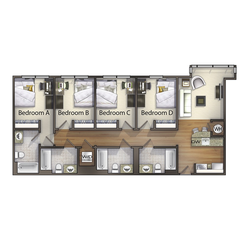 4 Bedroom - The Washington