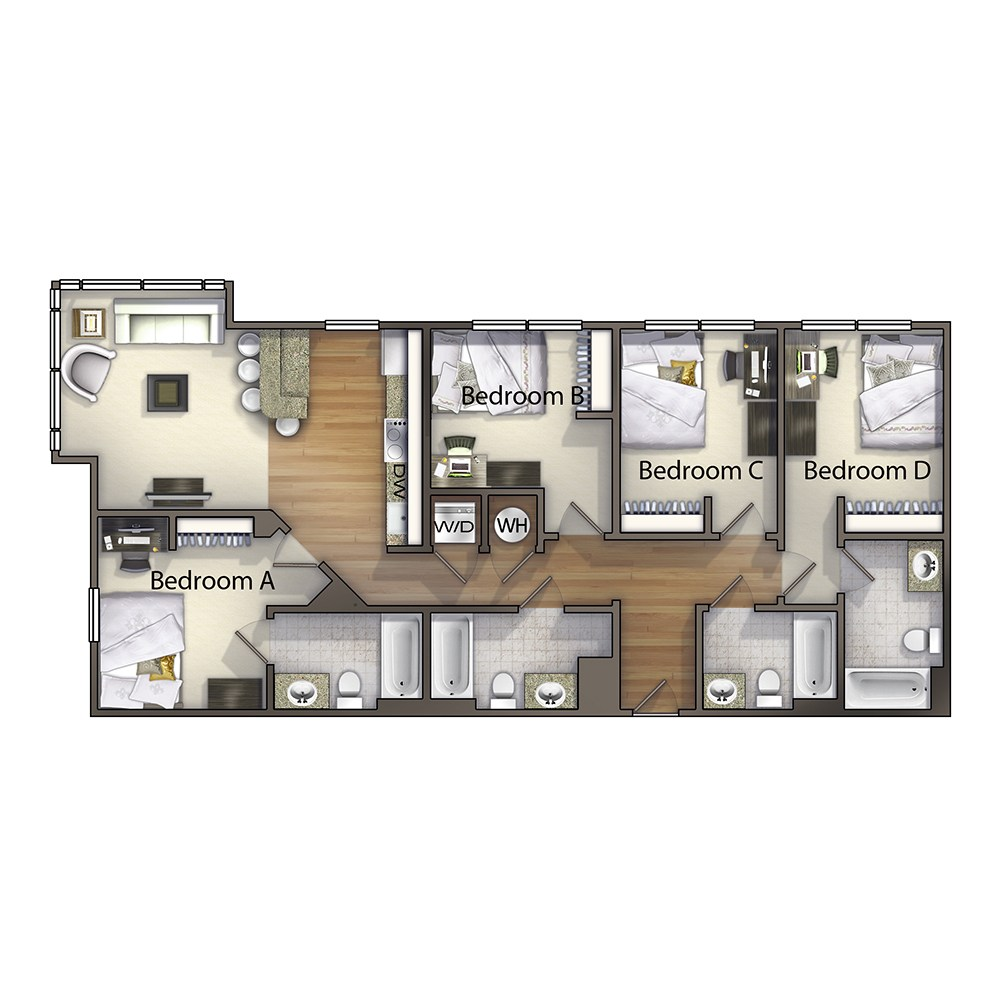 4 Bedroom - The Gaston