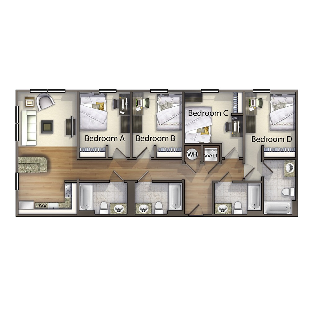 4 Bedroom - The Hyde